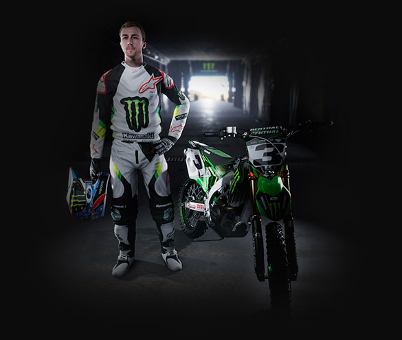 Customize your Supercross experience, Create your own rider. example 1