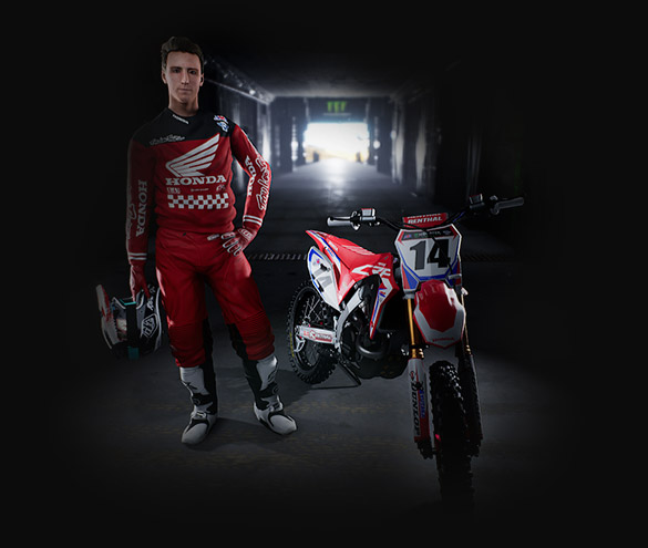 Customize your Supercross experience, Create your own rider. example 4